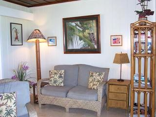 Living area in studio cottage