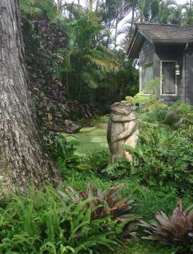 Beautiful gardens on Kailua vacation rental