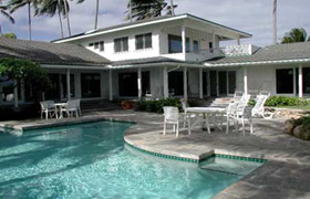 Oahu Beachfront                   Rentals, Kailua Beach Estate